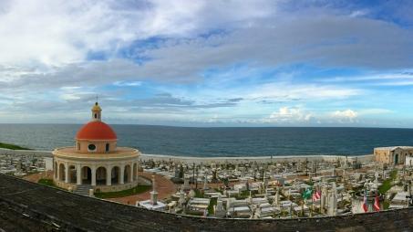 Seaside cemetery, adjacent to El Morro.