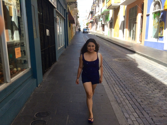 Walking down Calle de la Fortaleza.