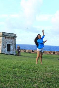 Kite-flying at El Morro.