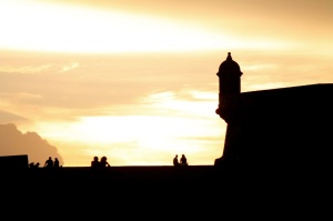 El Morro at sunset.
