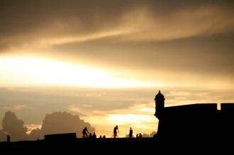 El Morro at sunset.