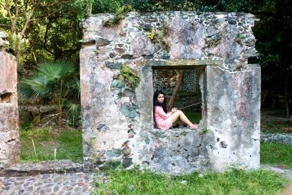 Sugar mill ruins.