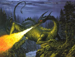 The Slaying of Glaurung, by Ted Nasmith