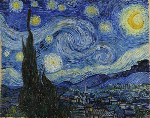 "Van Gogh's ""Starry Night."" 1889. Museum of Modern Art."