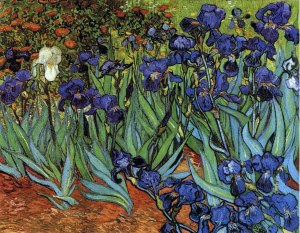 "Van Gogh's ""Irises."" 1889. J. Paul Getty Museum."